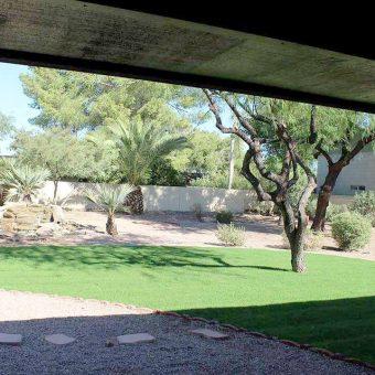backyard of halfway house
