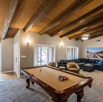 pool table living room